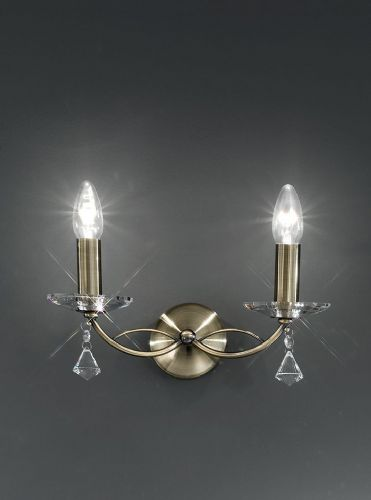 Franklite FL2228/2 Bronze Wall Light (Class 2 Double Insulated)